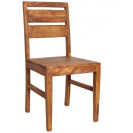 Moebel Living Přírodní masivní jídelní židle Lexie