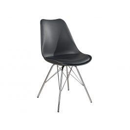 Moebel Living Tmavě šedá plastová jídelní židle Ambro