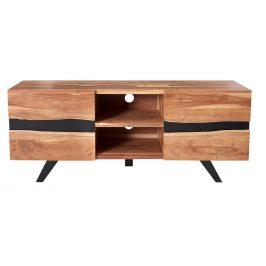 Moebel Living Masivní televizní stolek Tanzani 160x43 cm