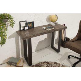 Moebel Living Šedý masivní dřevěný toaletní stolek Fabio 115 x 40 cm