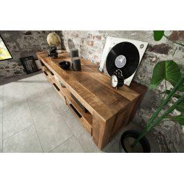 Moebel Living Masivní mangový TV stolek Fabio 170 x 45 cm