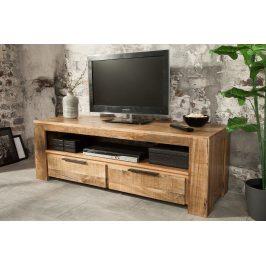 Moebel Living Masivní mangový TV stolek Fabio 130 x 45 cm