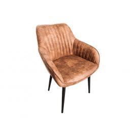 Moebel Living Světle hnědá čalouněná jídelní židle Sige
