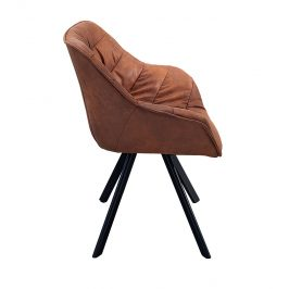 Moebel Living Hnědá čalouněná jídelní židle Grec