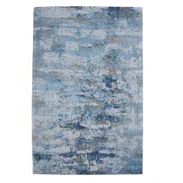 Moebel Living Modro šedý bavlněný koberec Charlize 240 x 160 cm
