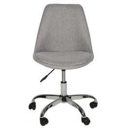 Moebel Living Šedá látková kancelářská židle Remond