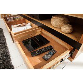 Moebel Living Masivní akátový TV stolek Holz 160 x 41 cm
