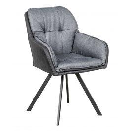 Moebel Living Tmavě šedá čalouněná jídelní židle Moby