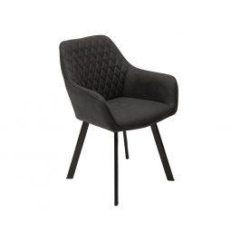 Moebel Living Antracitově šedá čalouněná židle Manger