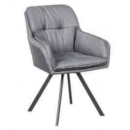 Moebel Living Šedá čalouněná jídelní židle Moby