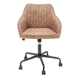 Moebel Living Světle hnědá čalouněná kancelářská židle Sige