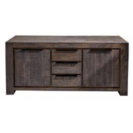 Moebel Living Šedá dřevěná komoda Fabio 170 x 50 cm