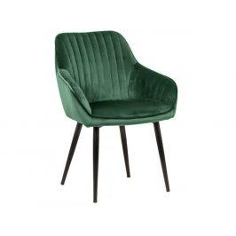 Moebel Living Zelená sametová židle Sige