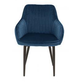 Moebel Living Modrá sametová židle Sige