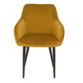 Moebel Living Žlutá sametová židle Sige