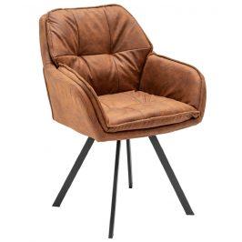 Moebel Living Hnědá čalouněná židle Tomy