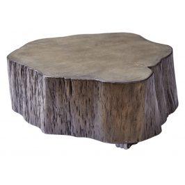 Moebel Living Šedý masivní konferenční stolek Kebo 63-77x63-77cm