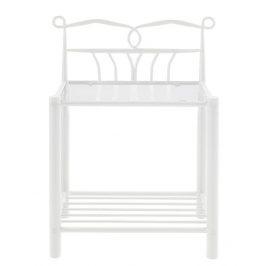 SCANDI Bílý kovový noční stolek Liben