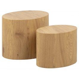 SCANDI Přírodní set konferenčních stolků Alida 51 x 37 cm