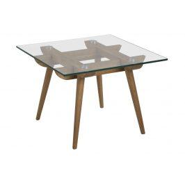 SCANDI Skleněný konferenční stolek Costa 60 cm