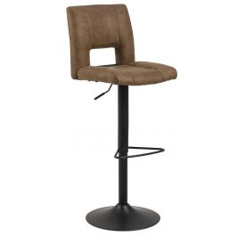SCANDI Světle hnědá sametová barová židle Richie