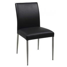 SCANDI Černá čalouněná jídelní židle Salo