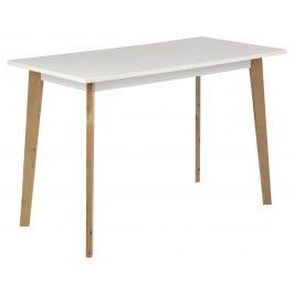 SCANDI Bílý jídelní stůl Corby 117 x 58 cm