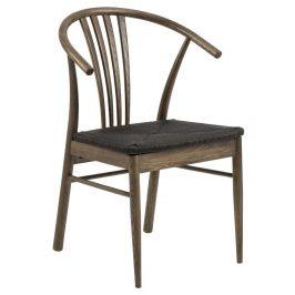 SCANDI Tmavě hnědá dřevěná jídelní židle Maret
