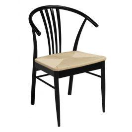 SCANDI Černá dřevěná jídelní židle Maret