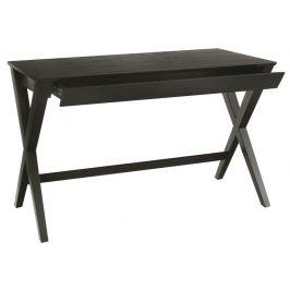 SCANDI Černý dubový pracovní stůl Text 120 x 60 cm