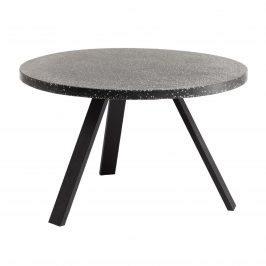 Černý kulatý terazzo zahradní jídelní stůl LaForma Shanelle 120 cm