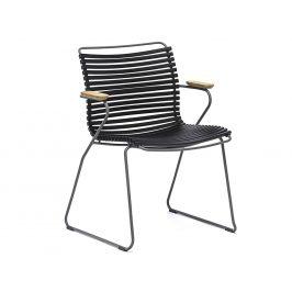 Černá plastová zahradní židle HOUE Click s područkami