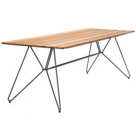 Přírodní bambusový zahradní jídelní stůl HOUE Sketch 220 x 88 cm