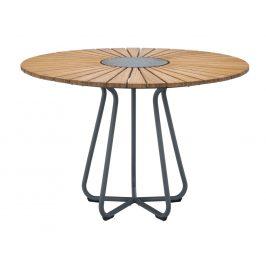 Přírodní bambusový zahradní jídelní stůl HOUE Circle 110 cm
