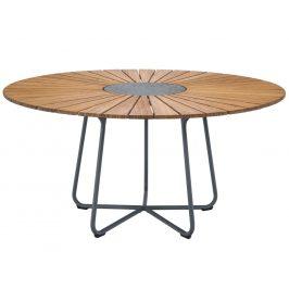 Přírodní bambusový zahradní jídelní stůl HOUE Circle 150 cm