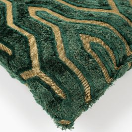 Zeleno zlatý polštář Bold Monkey I Feel So Soft