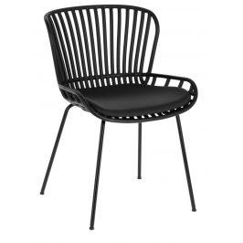 Černá čalouněná plastová zahradní židle LaForma Surpik