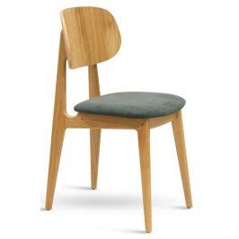 SitBe Šedá dubová čalouněná jídelní židle Rabbit