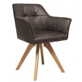 Moebel Living Šedá čalouněná jídelní židle Melissa