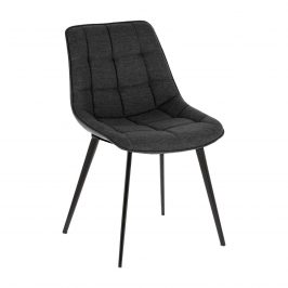 Antracitově šedá čalouněná jídelní židle LaForma Adah