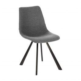 Světle šedá čalouněná jídelní židle LaForma Andi