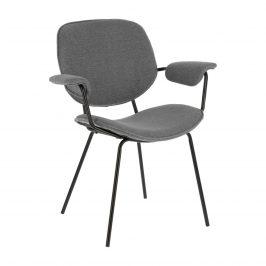 Světle šedá čalouněná jídelní židle LaForma Naiquen