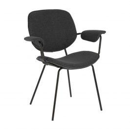 Tmavě šedá čalouněná jídelní židle LaForma Naiquen