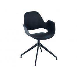 Černá plastová jídelní židle HOUE Falk I.