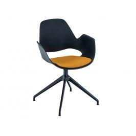 Žlutá čalouněná jídelní židle HOUE Falk I.