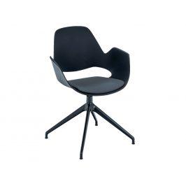 Tmavě šedá čalouněná jídelní židle HOUE Falk I.