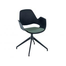 Zelená čalouněná jídelní židle HOUE Falk I.