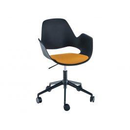 Žlutá čalouněná konferenční židle HOUE Falk