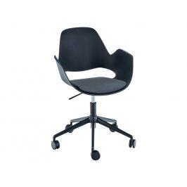 Tmavě šedá čalouněná konferenční židle HOUE Falk
