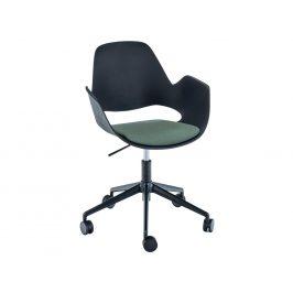 Zelená čalouněná konferenční židle HOUE Falk